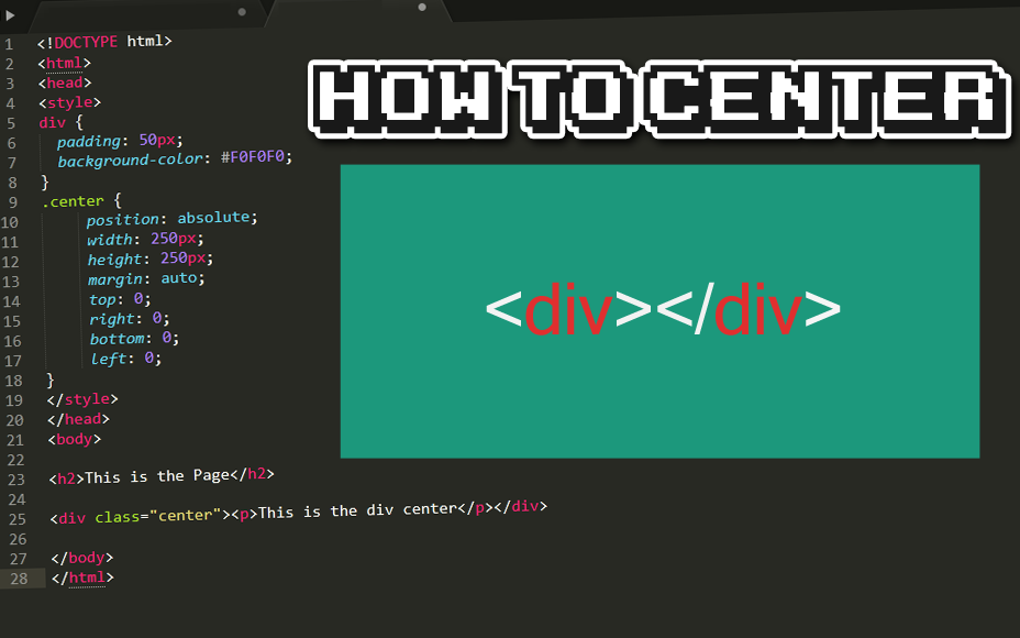How to Horizontally and Vertically Center a Div