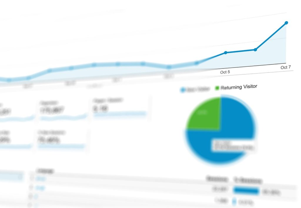 Audience Overview of Google Analytics report