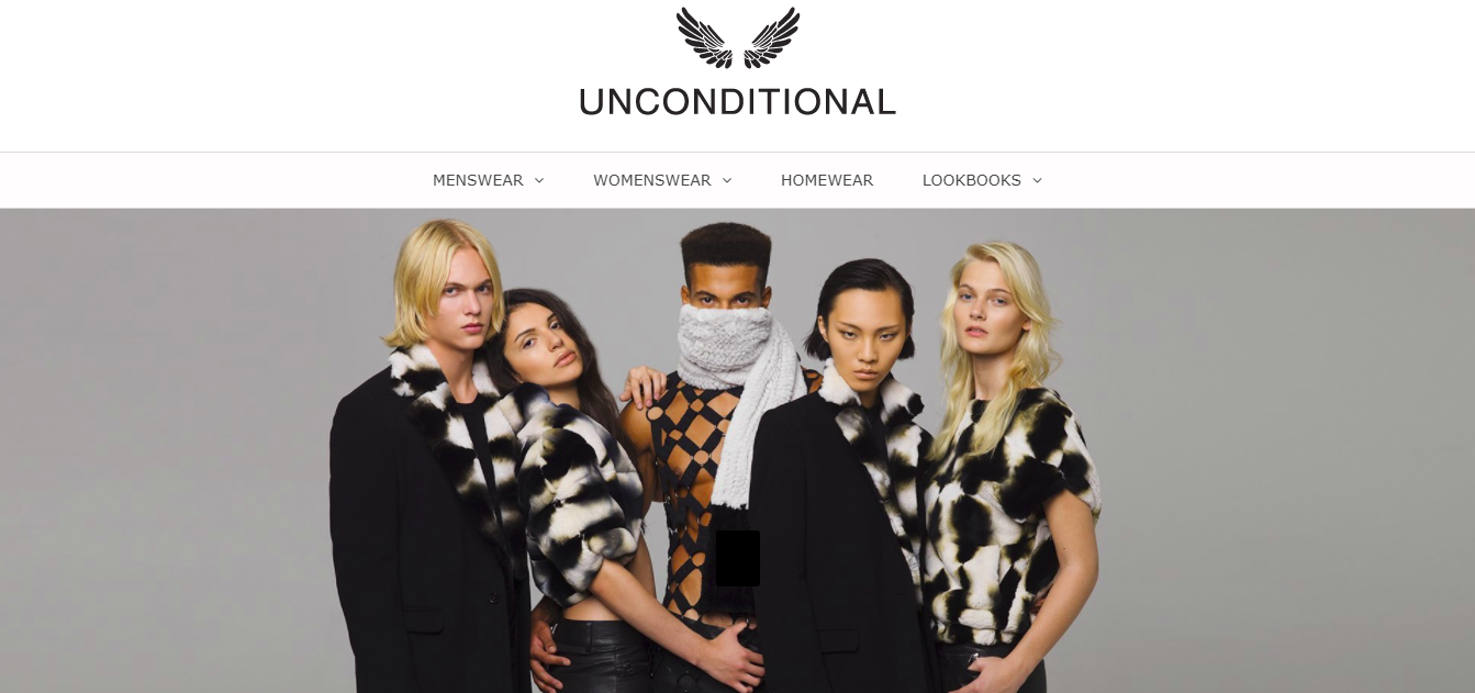 Unconditional's Shopify Store being simple, yet eye-catching