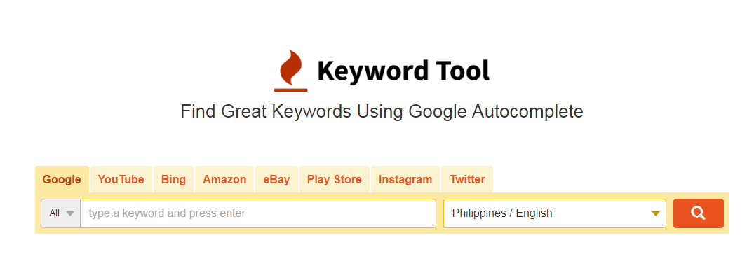 Keyword Tool is the best keyword research tool online for free