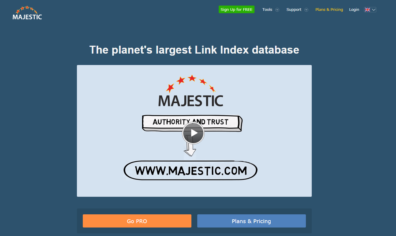 Majestic SEO the most powerful Search Engine Tool online for FREE