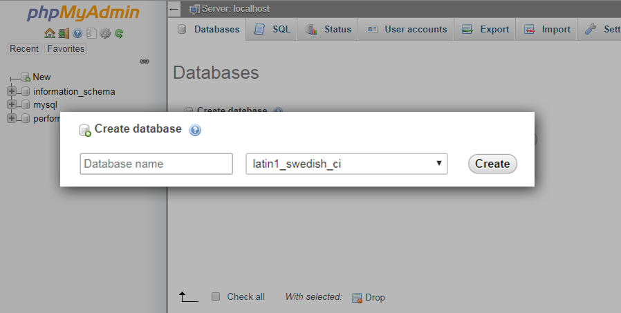 Creating Database for Shopify App API Development Tutorial
