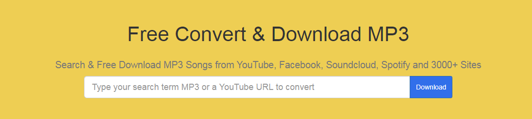 Free YouTube Music Video Downloader - Mp3download.center - Search & Free Download MP3 Songs from YouTube, Facebook, Soundcloud, Spotify and 3000+ Sites