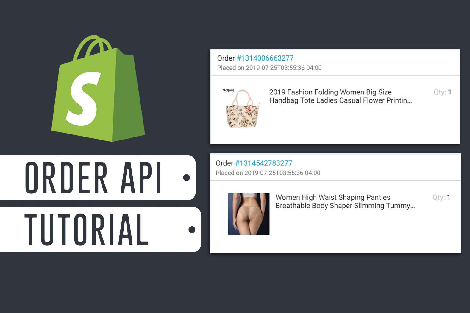 How To Display List of Orders and Items with Shopify Order API