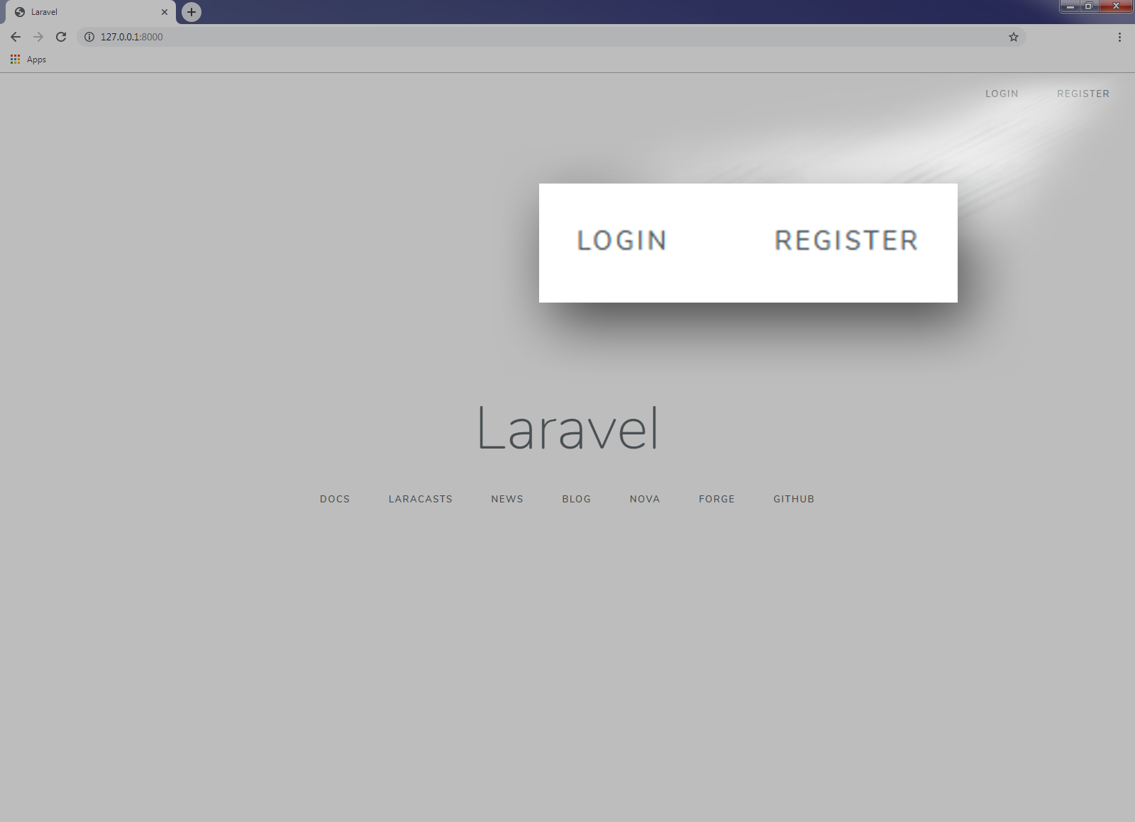 Using Laravel Authentication to create Login and Sign up form