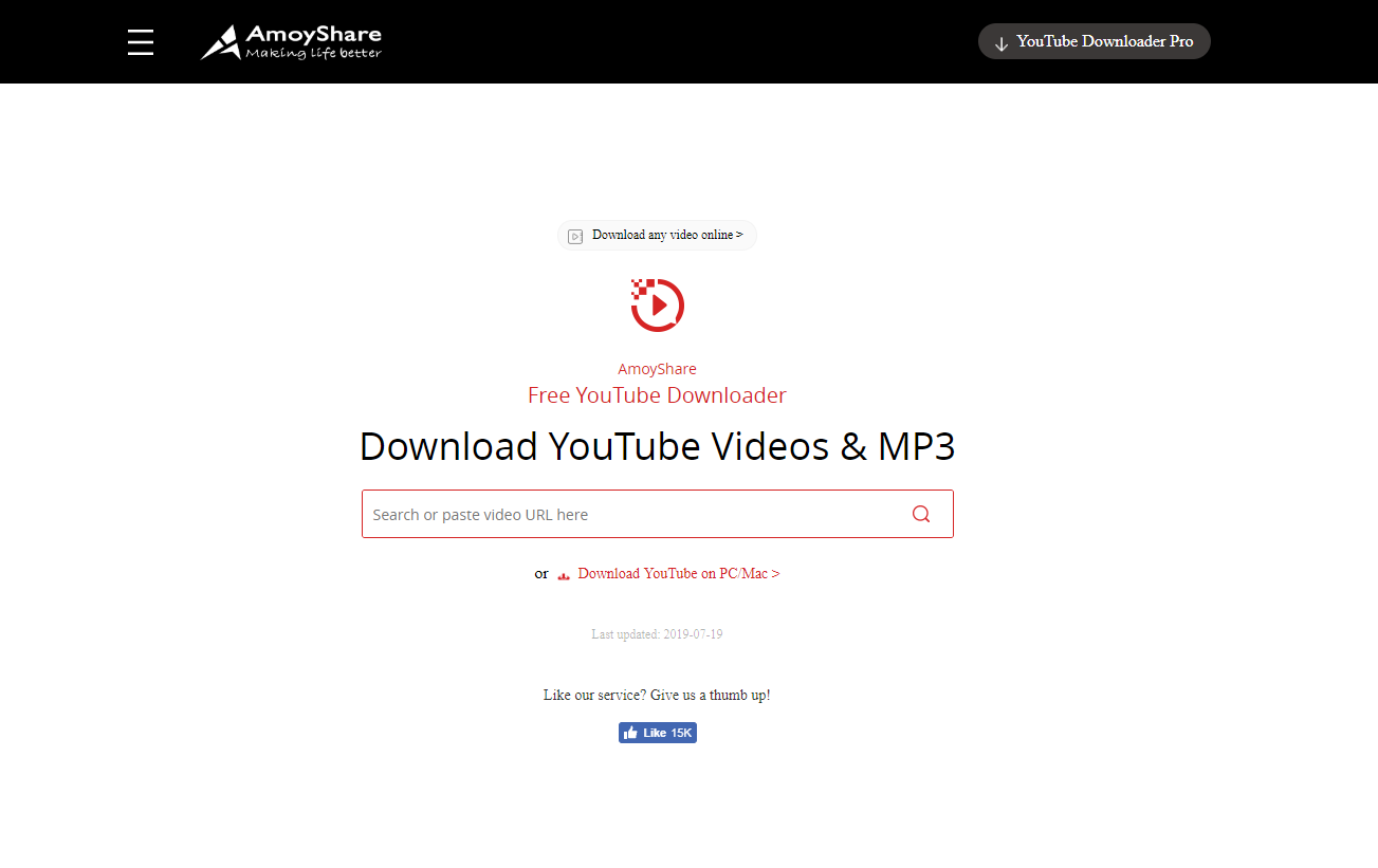 AmoyShare - YouTube Video Downloader