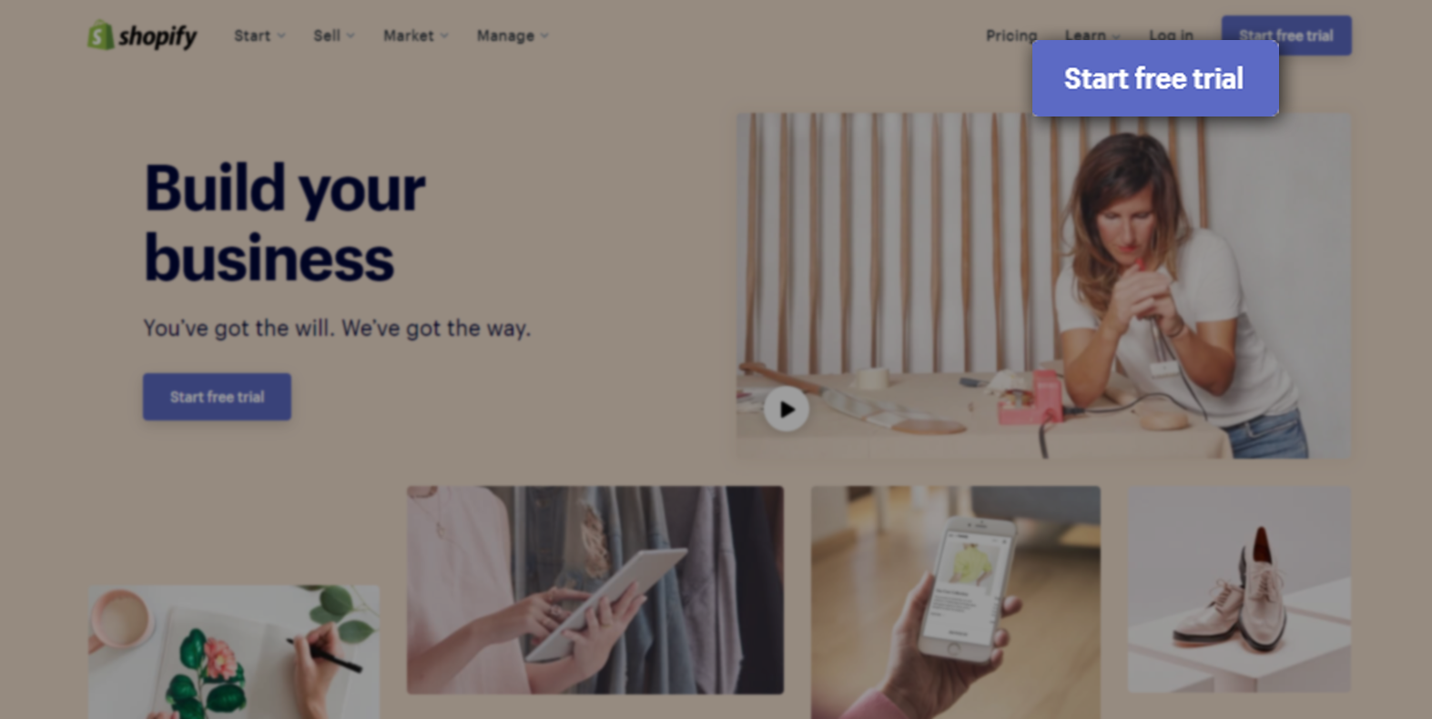 Start Your Business with Shopify 14-day Free Trial