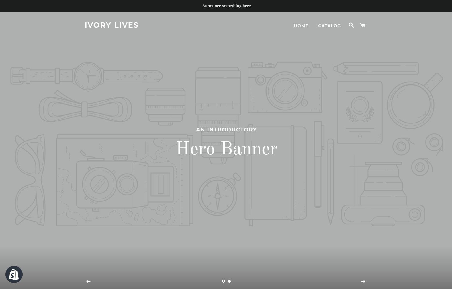 Brooklyn Shopify Theme Homepage