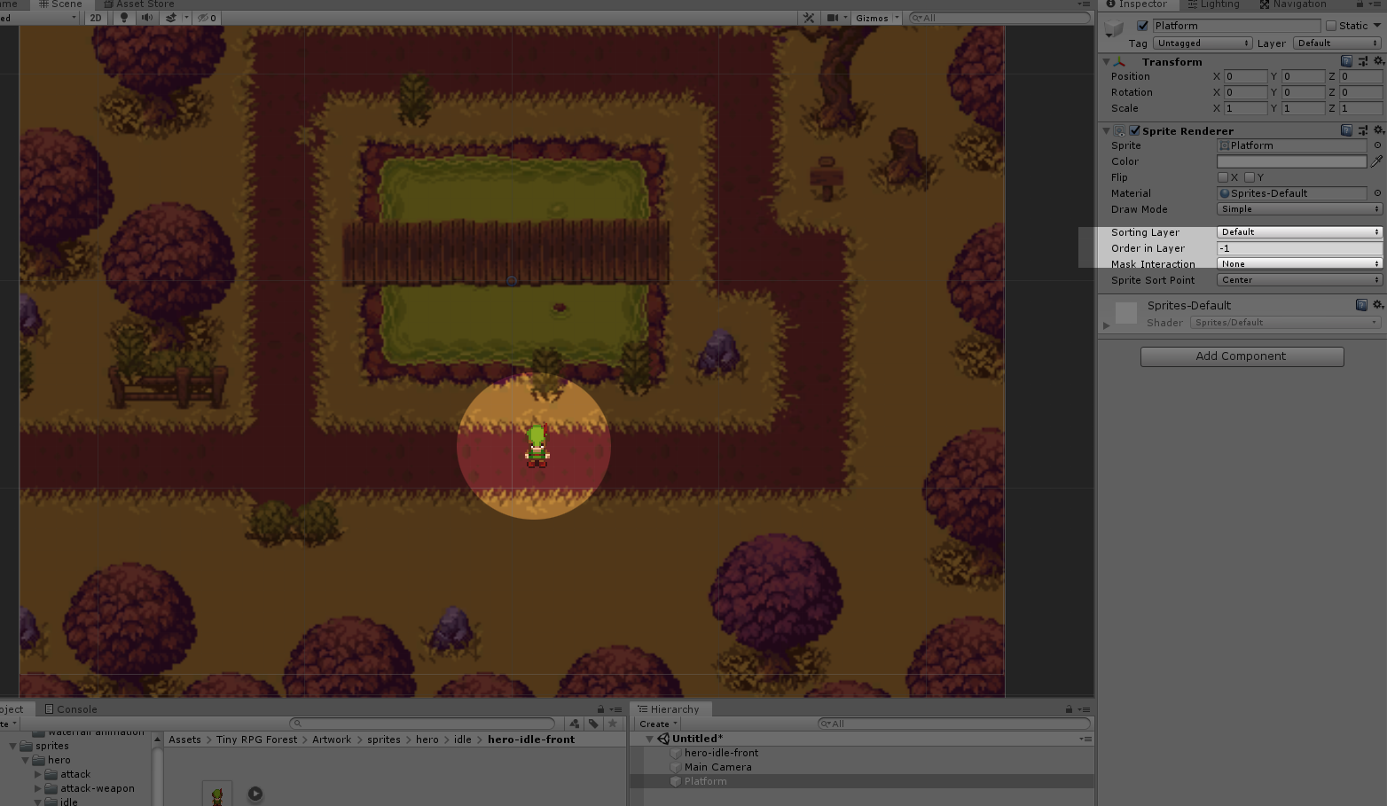 Unity 2D Sprite not showing up in the scene error