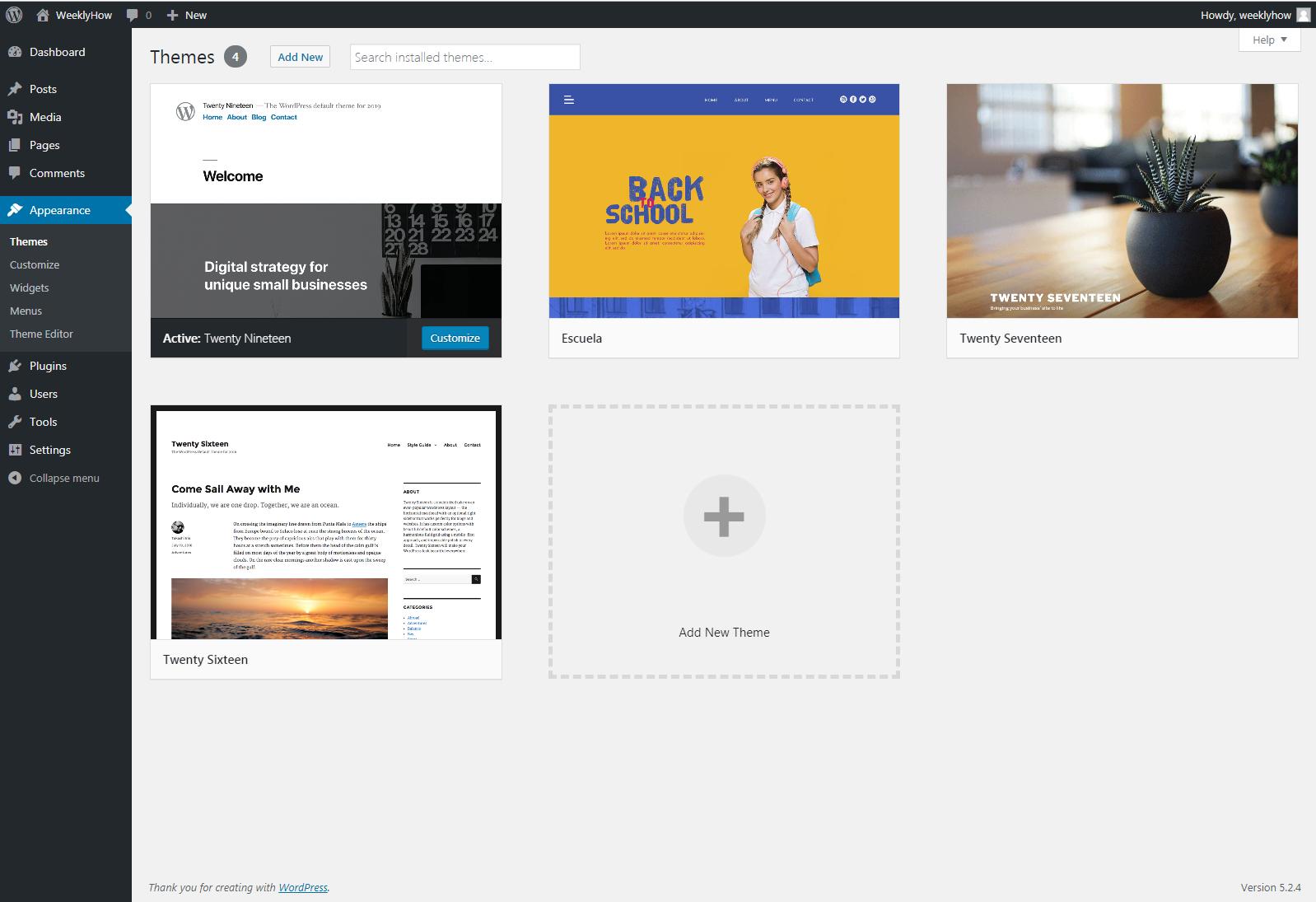 Developing Premium WordPress themes - Managing themes
