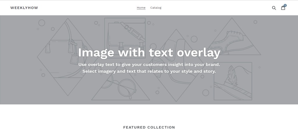 Shopify Debut theme Default shopify theme
