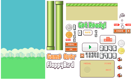 Flappy Bird Game Sprites