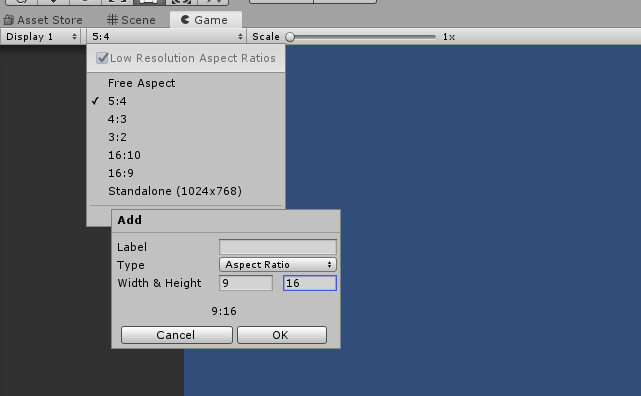 Unity Game Aspect Ratio
