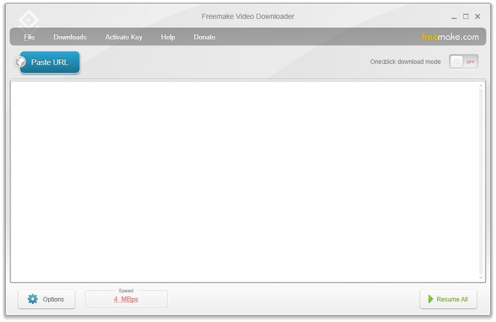Free Make Video Downloader User Interface
