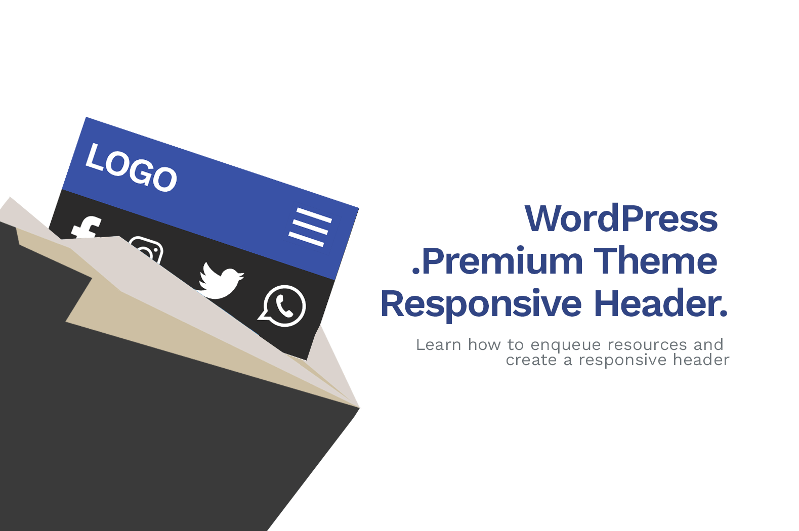 How To Make Premium WordPress Theme Header (Tutorial)