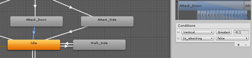 Attack Down to Idle animation condition