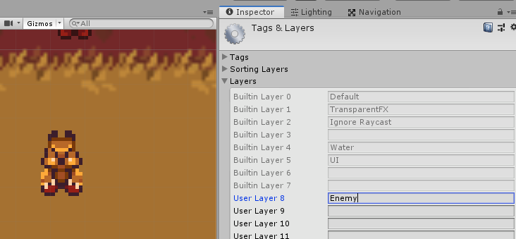 Adding Layer mask for enemy