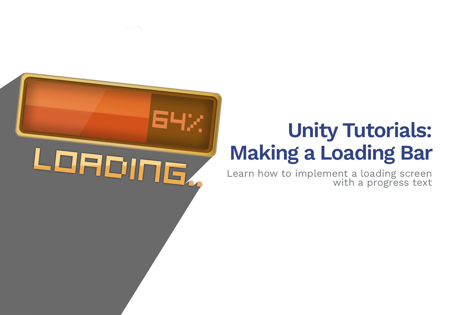 How To Make a Loading Bar Screen in Unity (C# Tutorial)