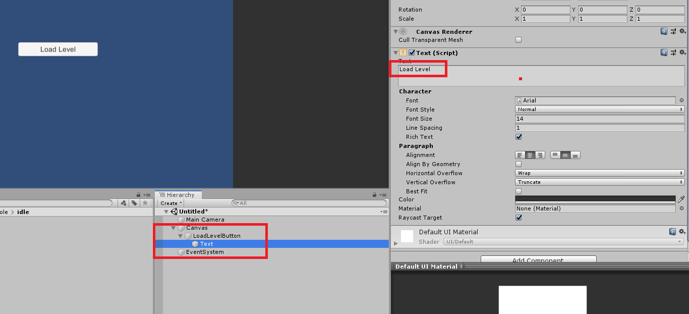 Changing the text of Buttons in Unity UI