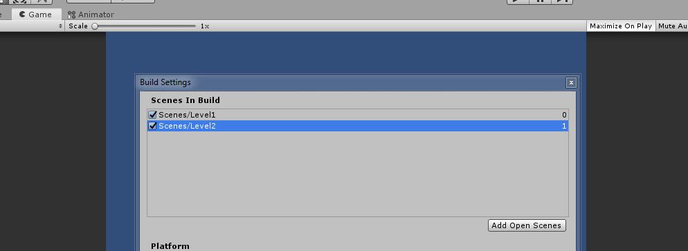 Unity 3d build settings
