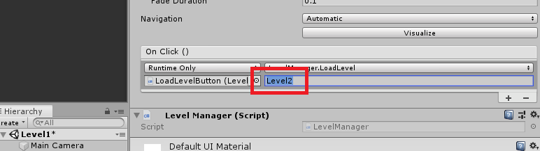 loading levels with unity 3d on click