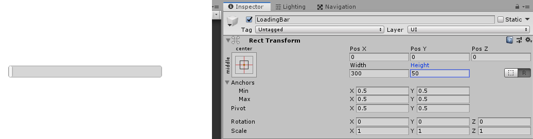 changing the width and height of unity 3d UI slider