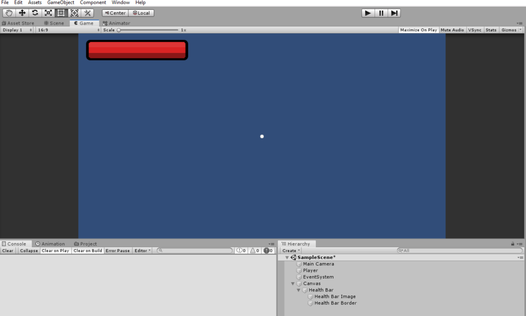 unity 3d interface