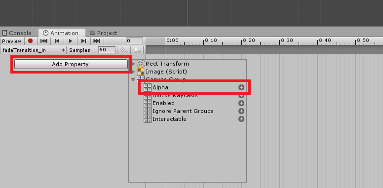 unity 3d adding properties for animation