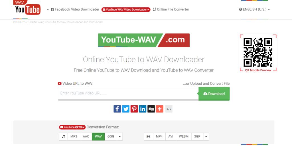 YouTube-WAV - Online YouTube to WAV Downloader and Converter