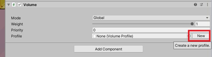 unity creating new volume profile