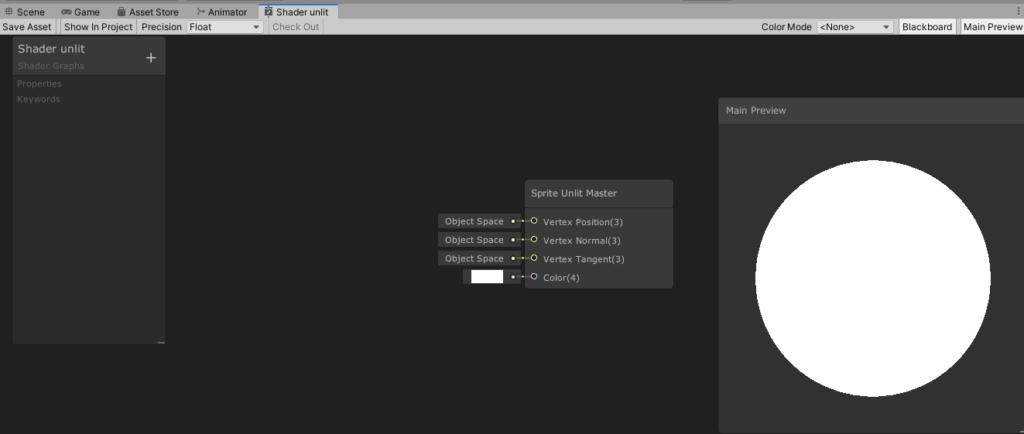 unity shader graph editor