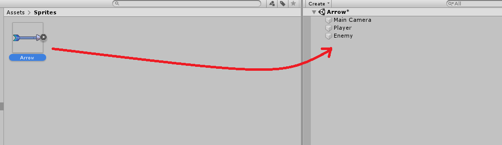 unity 3d creating arrows