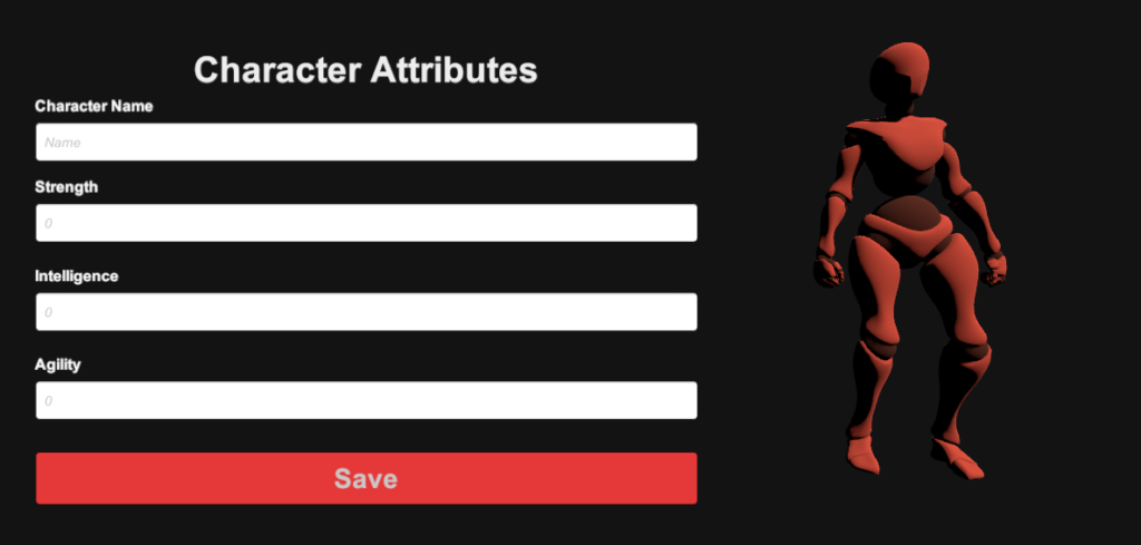 saving character data attributes