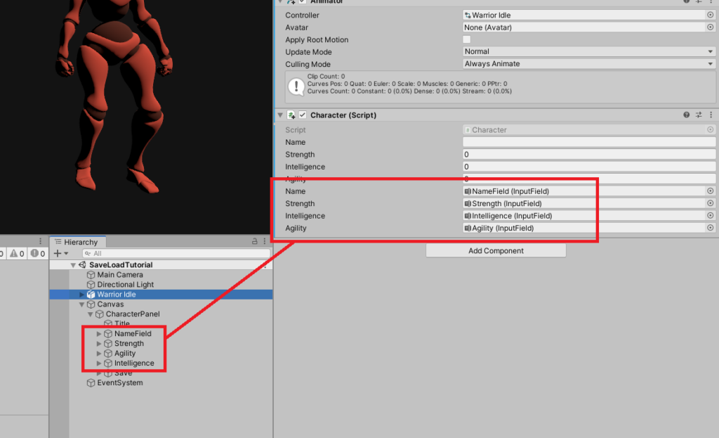 input field variables in inspector in unity