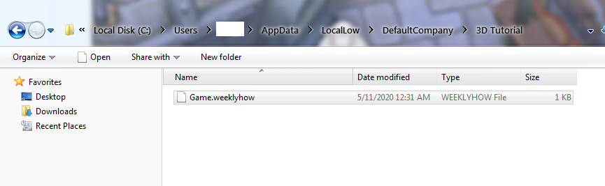 unity custom save file tutorial sample