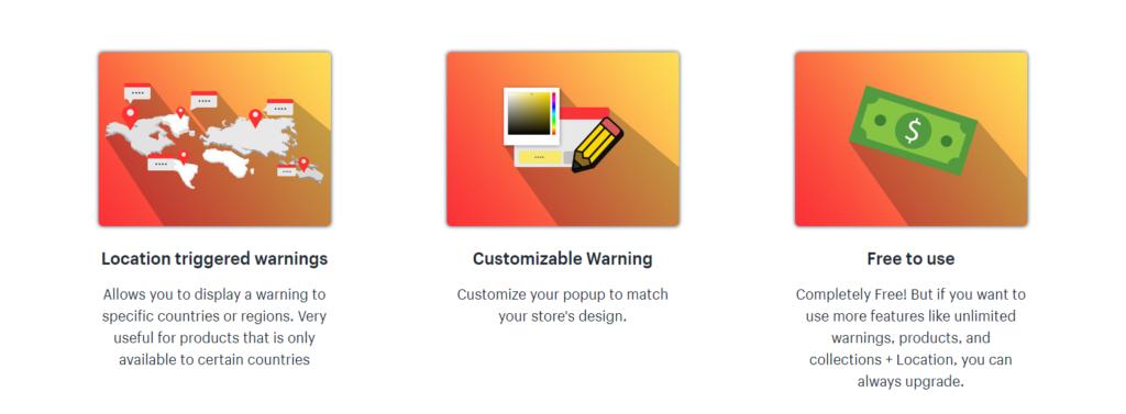 shopify app key benefits example image