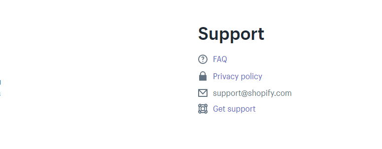 shopify app support section listing app