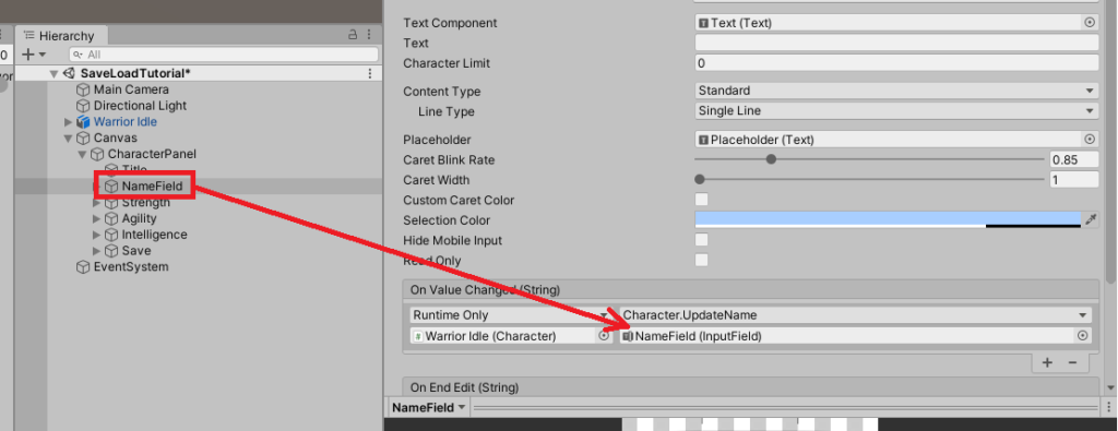 unity input fields events on value change