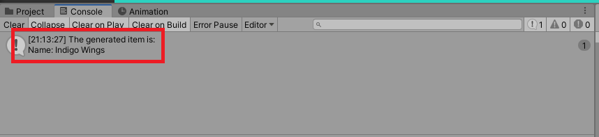 Unity Item Generator API Tutorial