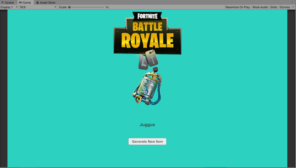 Unity Fortnite Battle Royale Item API Tutorial