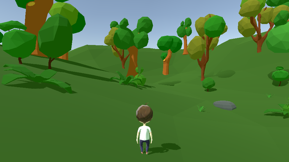 Low poly third person player controller in unity