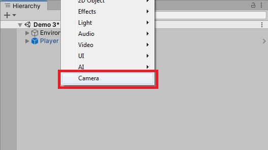 creating a custom camera in unity