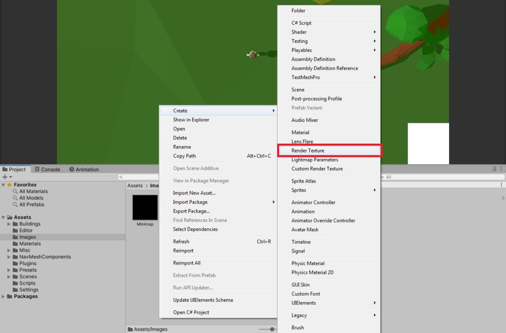 creating unity render texture