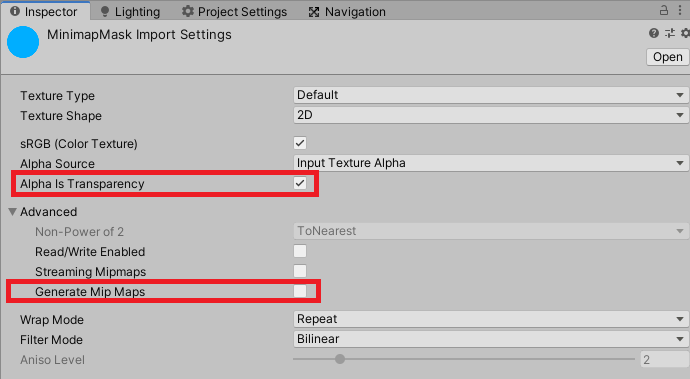 masking raw images in unity