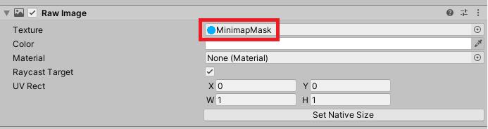 raw image minimap mask unity