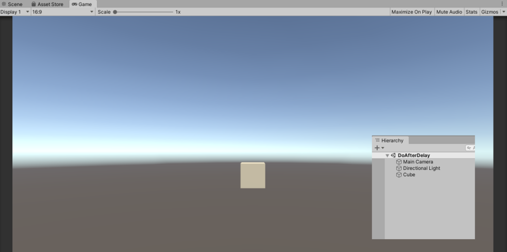 Unity Delay Function to change the color of the cube