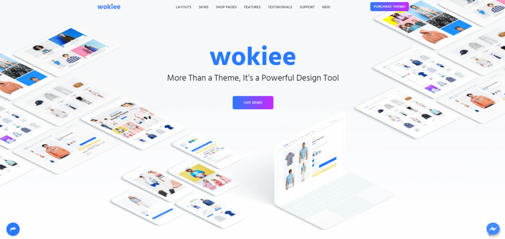 best shopify themes in 2020 featuring wokiee