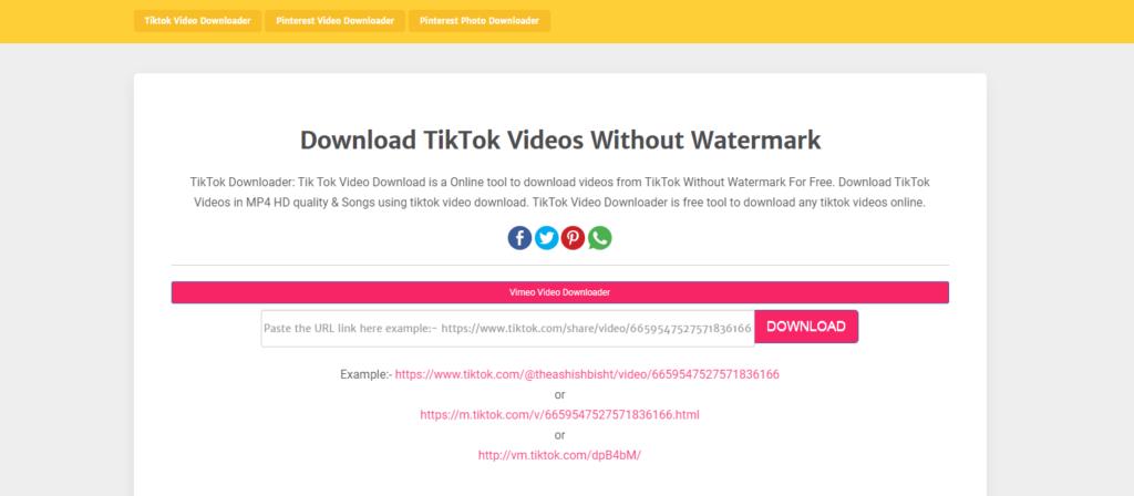 ExpertsPHP - TikTok Video Downloader