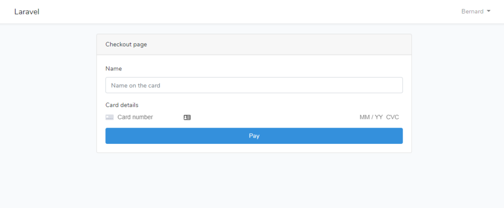 laravel subscription plan payment page example