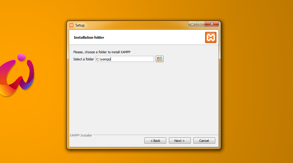 changing installation folder for XAMPP